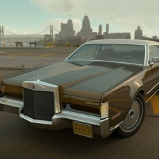 Lincoln Continental Mark IV 1972 3D Model