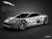 Jaguar C-X75 3D Model