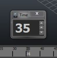 Free Big Current Time for Maya 1.0.0 (maya script)