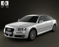 Audi A8 2009 3D Model