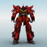 MSN-06S Sinanju Ver Ka 3D Model