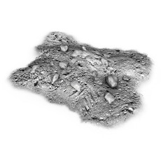 Dirt pile with grey rocks 3D Model