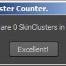 SkinCluster counter for Maya 1.0.0 (maya script)