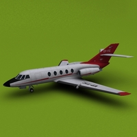 Iran Civil Aviation Falcon 20/200 3D Model