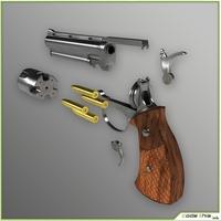 Animated Pistol 3D 3D Model