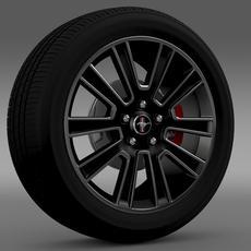 Ford Mustang 2010 wheel 3D Model
