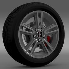 Ford Mustang 2013 wheel 3D Model
