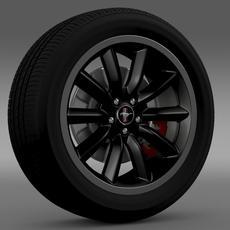 Ford Mustang Boss 302 2012 wheel 3D Model