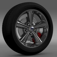 Ford Mustang Convertible 2010 wheel 3D Model