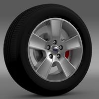 Ford Mustang GT Convertible 2005 wheel 3D Model