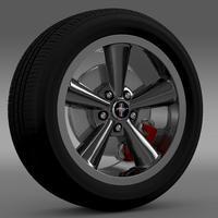 Ford_Mustang Bullit 2008 wheel 3D Model