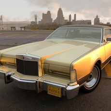 Lincoln Continental Mark IV 1974 3D Model