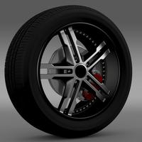 Ford_Mustang DUB Edition 2011 wheel 3D Model