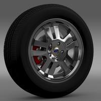 Ford_Mustang GT 2005 wheel 3D Model