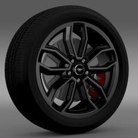 Ford_Mustang GT 2013 wheel 3D Model