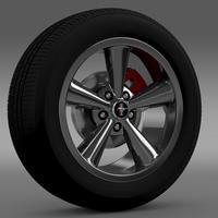 Ford_Mustang Shelby GT Convert 2008 wheel 3D Model
