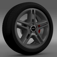 Ford_Mustang Shelby GT500 2010 wheel 3D Model