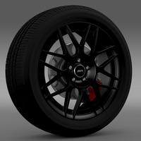 Ford_Mustang Shelby GT500 Convertible 2011 wheel 3D Model