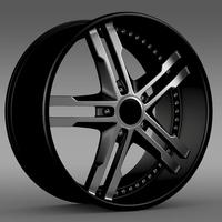 Ford Mustang DUB Edition 2011 rim 3D Model