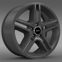Ford Mustang Shelby GT500 2010 rim 3D Model
