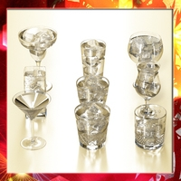 Glassware Collection - 9 glasses and cups 3D Model