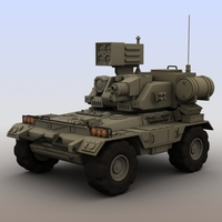 Futuristic armored vehicle 3D Model