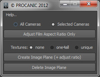 Free Image Plane and Aspect Ratio for Maya 0.0.3 (maya script)