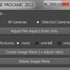 Image Plane and Aspect Ratio for Maya 0.0.3 (maya script)
