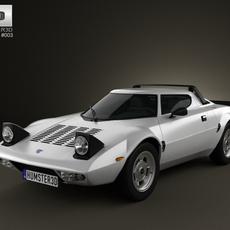 Lancia Stratos 1972-1974 3D Model