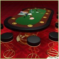 Table Casino - Texas Holdem Poker 3D Model