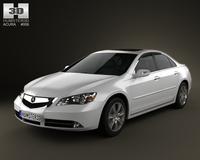 Acura RL 2012 3D Model