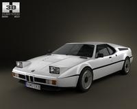 BMW M1 1978-1981 3D Model