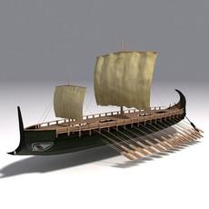 Greek Trireme  3D Model