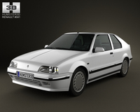 Renault 19 3-door hatchback 1988 3D Model