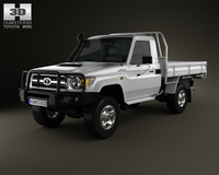 Toyota Land Cruiser (J70) Cab Chassis GXL 2008 3D Model