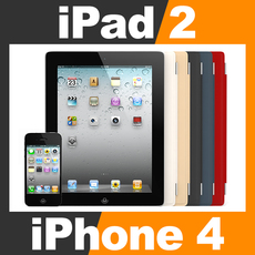 Apple iPhone 4 and iPad 2 with Smart Cover 3D Model