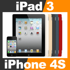 Apple iPhone 4S and New iPad 3 with Smart Cover 3D Model