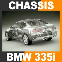 2011 BMW 3 Series Coupe - Bodywork Chassis Engine Interior 3D Model