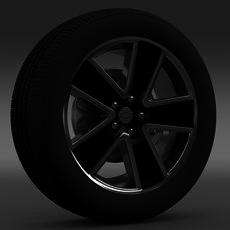 Chevrolet Camaro Convertible 2007 wheel 3D Model