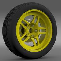 Chevrolet Camaro GS Racecar 2008 wheel 3D Model