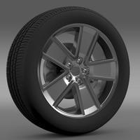 Chevrolet Camaro Redflash 2010 wheel 3D Model
