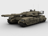 Type 61 main battle tank 3D Model