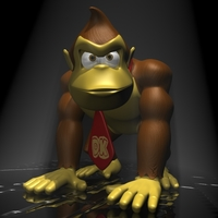 Donkey Kong RIGGED 3D Model