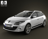 Renault Megane Estate 2011 3D Model