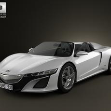 Acura NSX convertible 2012 3D Model