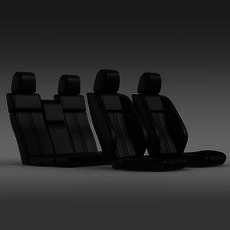 Car seats of Ford Mustang 3D Model