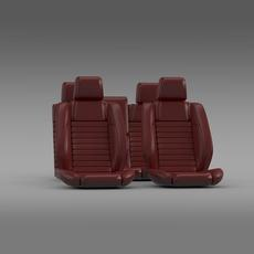 Car seats of Ford Mustang Shelby 3D Model