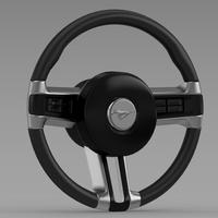 Steering Wheel Mustang 3D Model
