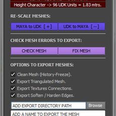 Deo's Game Engines Tool for Maya 3.0.4 (maya script)