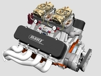 Chevrolet Big Block Tunnel-Ram V8 Engine 3D Model